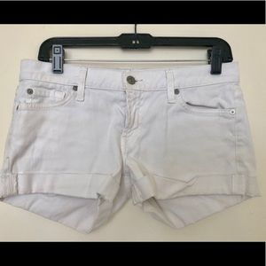 7 for All Mankind White Jean Shorts